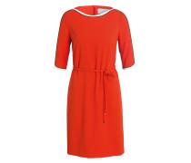 Kleid HARIVA - orangerot/ weiss