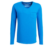 Langarmshirt AQUA - blau