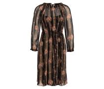 Kleid VICTORIAN - schwarz/ rosa/ grün