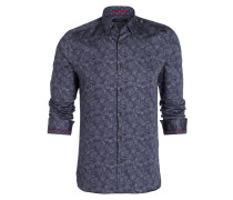 Hemd Extra Slim-Fit - blau/ hellgrau