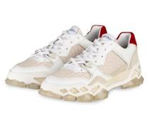 Plateau-Sneaker DIAMOND - WEISS/ BEIGE