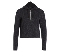 Cropped-Hoodie GYMTECH LUXE - schwarz
