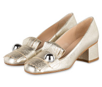 Pumps - gold metallic