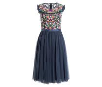 Kleid LAZY DAISY - blaugrau/ pink/ grün