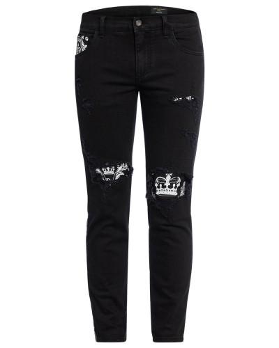 Jeans SLIM FIT mit Galonstreifen