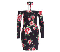 Kleid ELLY - schwarz/ rot/ rosa