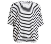 T-Shirt MAINS - cremé/ weiss gestreift