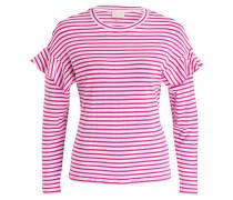 Longsleeve - pink/ weiss gestreift