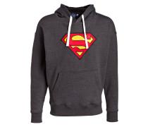 Hoodie mit Superhelden-Details - grau