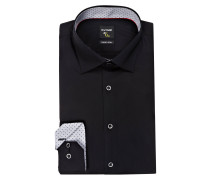 Hemd No. Six super slim - schwarz