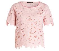 Blusenshirt mit Spitzenbesatz - rosa