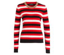 Pullover - rot/ weiss/ schwarz