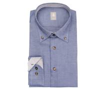Hemd TREVISO Slim-Fit - blau/ weiss