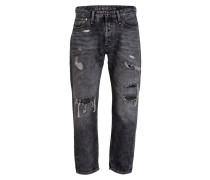 Destroyed-Jeans CROP Loose Carrot-Fit
