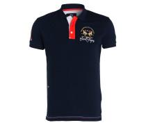 Piqué-Poloshirt Slim-Fit - blau