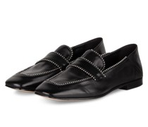 Loafer mit Nietenbesatz - SCHWARZ