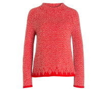 Pullover - rot/ creme