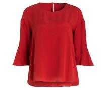 Bluse mit Trompetenarm - rot