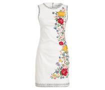 Kleid mit Stickereien - offwhite