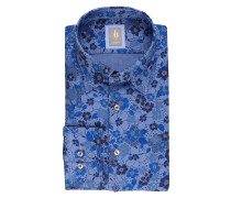 Hemd MESSINA Custom-Fit - blau/ dunkelblau