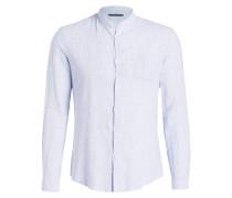 Hemd KEEZ Slim-Fit mit Stehkragen - blau