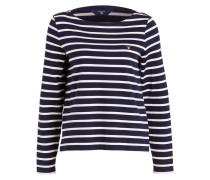 Sweatshirt - navy/ weiss gestreift