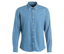 Jeanshemd TOMM Modern-Fit - blau
