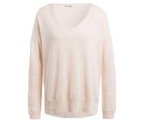 Pullover mit Leinenanteil - rosé