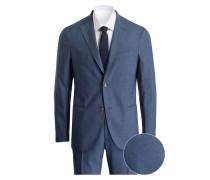Anzug Slim-Fit - blaugrau meliert