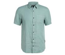 Halbarm-Hemd aus Leinen