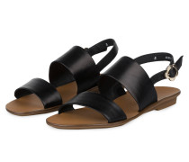 Sandalen - schwarz/ gold