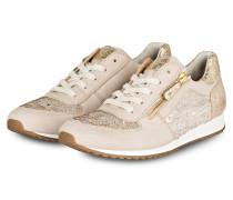 Sneaker mit Pailetten - beige
