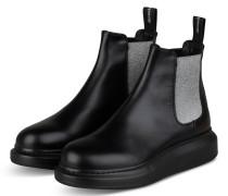 Plateau-Boots - SCHWARZ/ SILBER