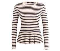 Pullover - navy/ beige gestreift