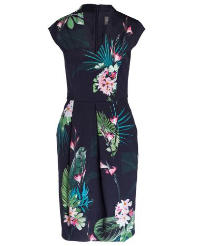 Kleid MILA - navy/ grün/ rosa