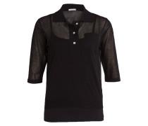 Poloshirt mit Top - schwarz