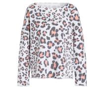 Sweatshirt - weiss/ grau/ rosa