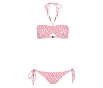 Bandeau-Bikini AUSTRALIA - orange/ rosa