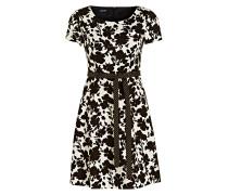 Kleid - ecru/ schwarz