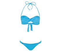 Bandeau-Bikini MARTINIQUE - hellblau