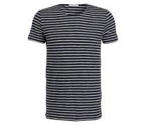 T-Shirt - marine/ weiss