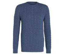 Pullover BLANCHLAND mit Zopfmuster - blau