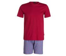 Shorty-Schlafanzug - rot