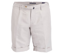 Shorts Slim-Fit mit Leinenanteil - grau
