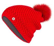 Mütze LEA mit Pelzbommel
