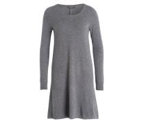 Cashmere-Kleid - dunkelgrau meliert