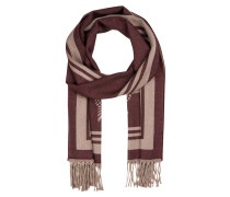 Schal DAMAS - bordeaux/ beige
