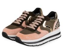Plateau-Sneaker MARAN - ROSA/ OLIV