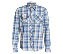 Hemd Regular-Fit - blau/ grau kariert