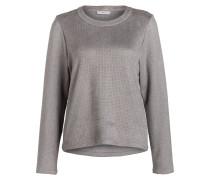 Shirt in Velourslederoptik - grau